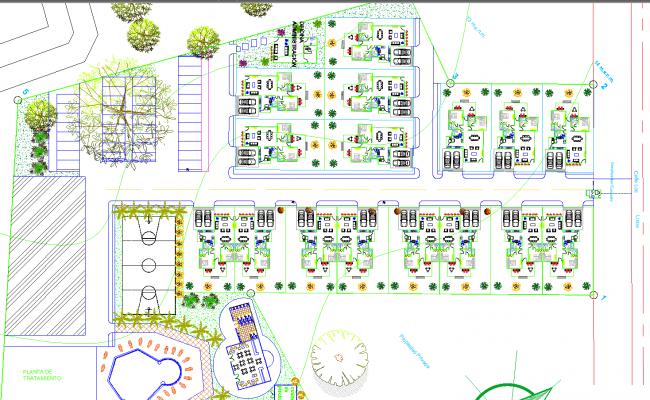 Condominium architecture detail drawing