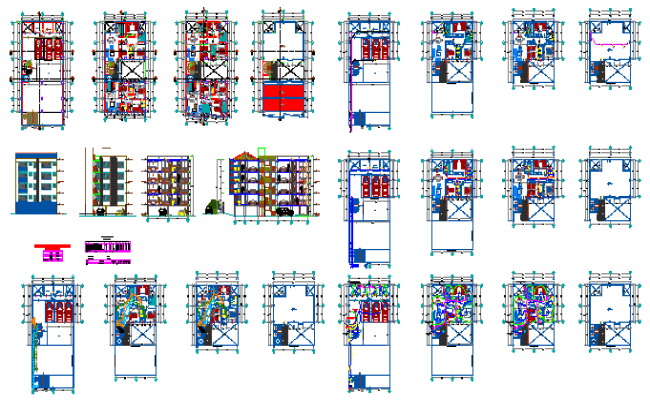 Condominium flat design drawing project