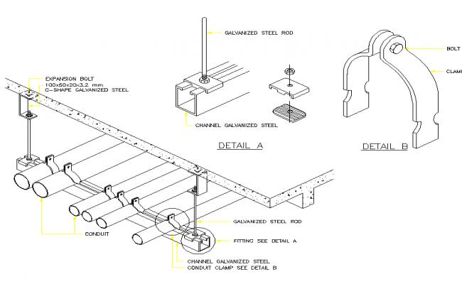 Conduit belt plan detail dwg.