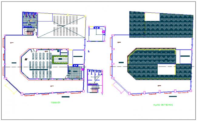 Conference room detailing dwg file
