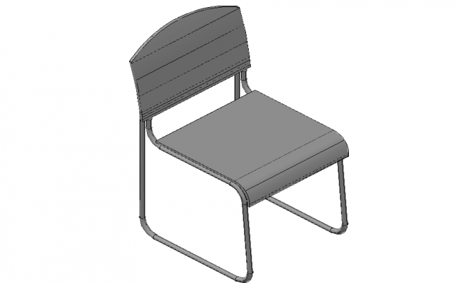 Conference stacking chair