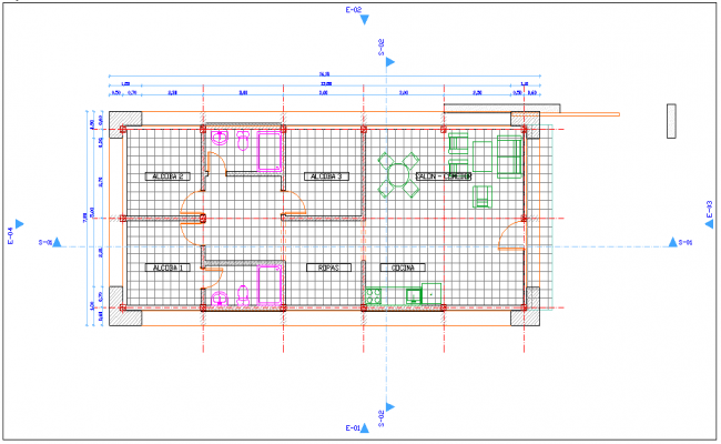 Construction Design of house plan