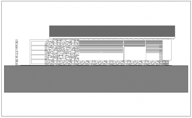 Construction Design with elevation of building