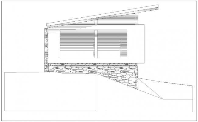 Construction Design with right side elevation of house