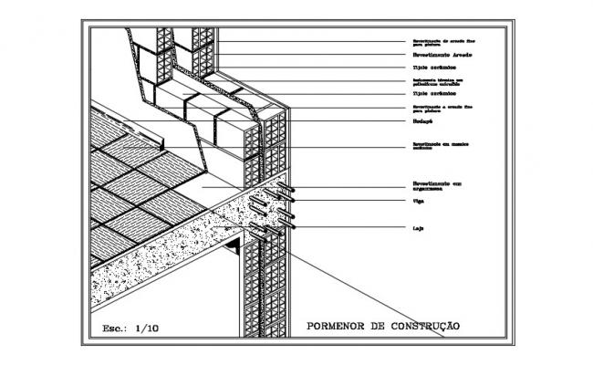 Construction Detail Drawing In DWG File