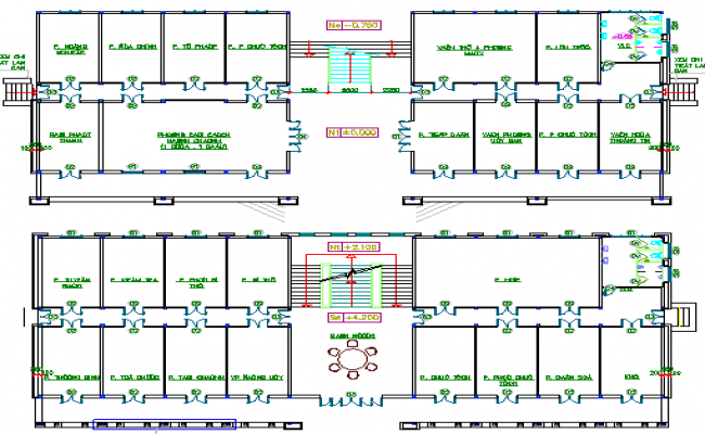 Construction Details of Government Head Quarters Design dwg file
