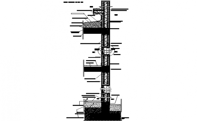 Construction Foundation to slab plan detail dwg file