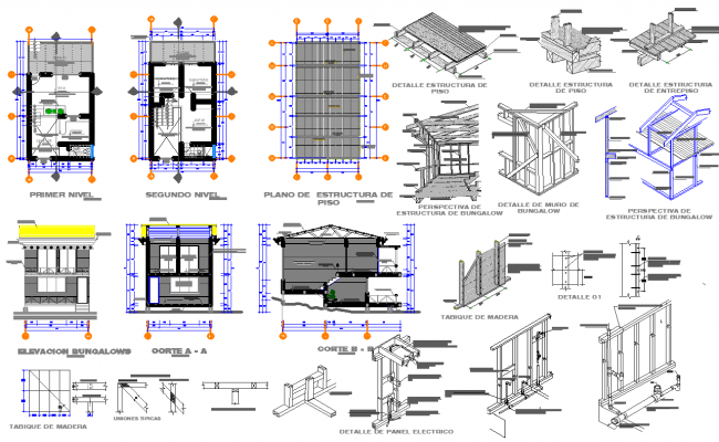 Construction House Plan Autocad File