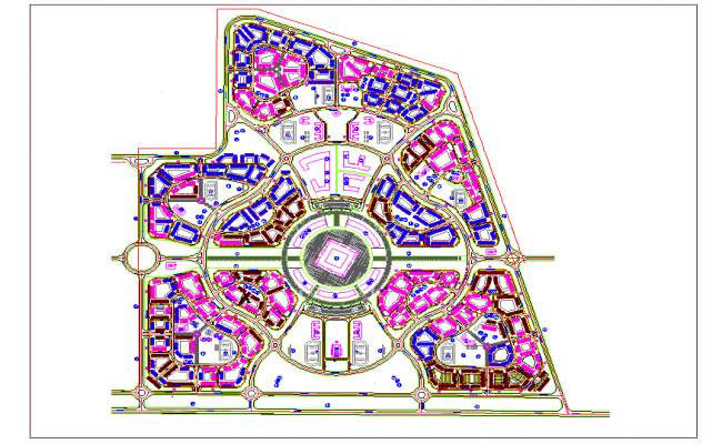 Construction View of Road Design dwg file