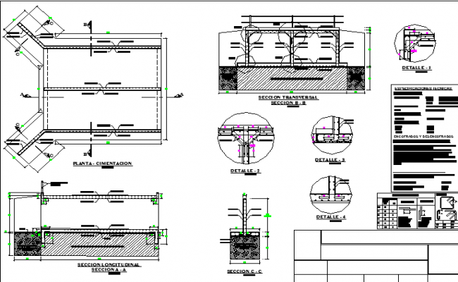 Construction and sectional detail