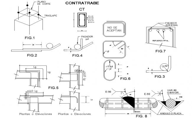 Construction building plan detail dwg file