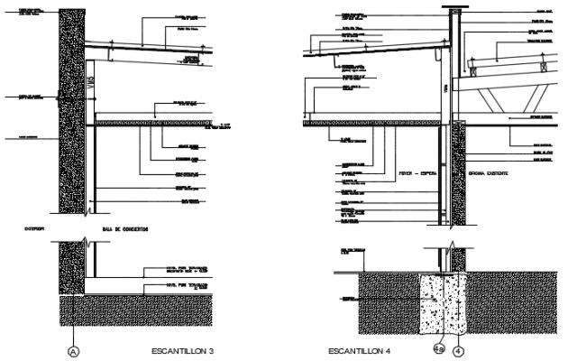 Construction detail acoustics sliding door detail dwg file