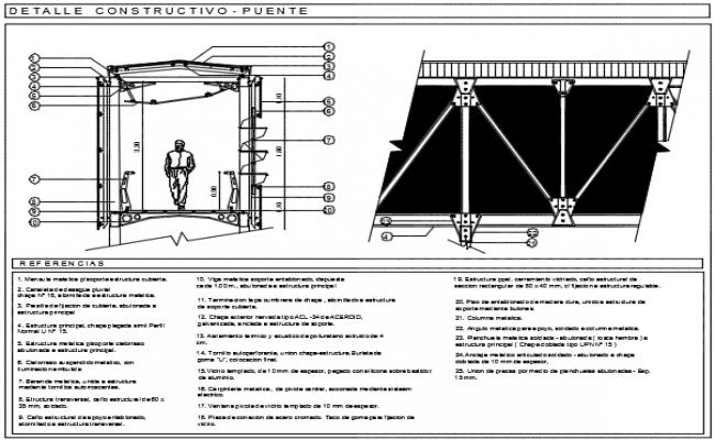 Construction detail bridge plan dwg file