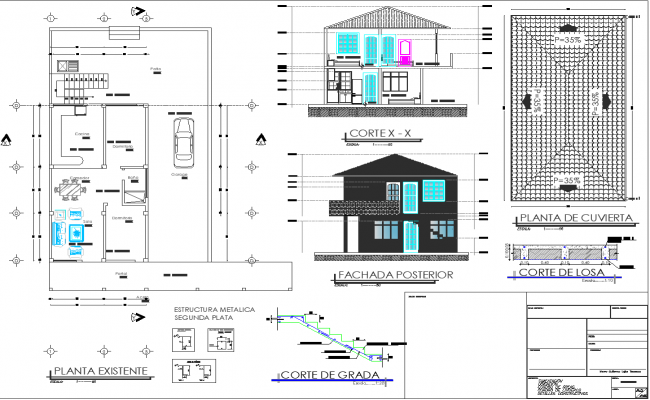 Material Used Building Plan Autocad File Cadbull