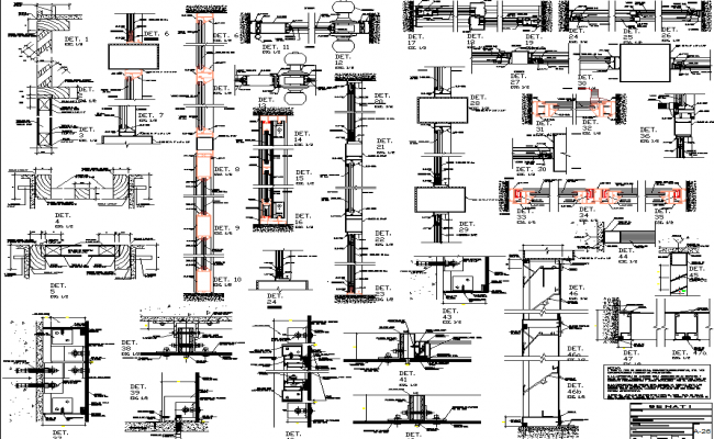Construction detail dwg file