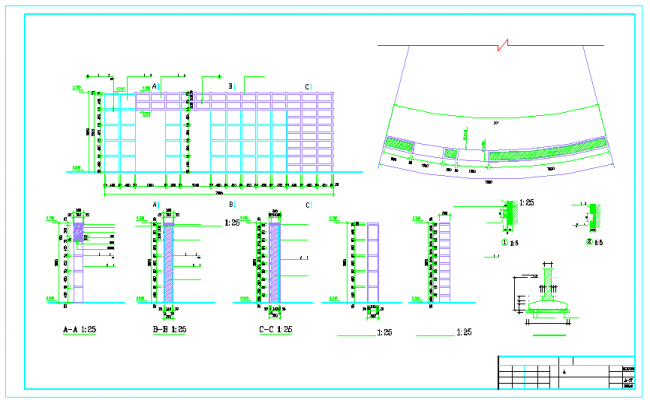 Construction detail in autocad file