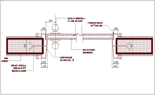 Construction detail of frame work