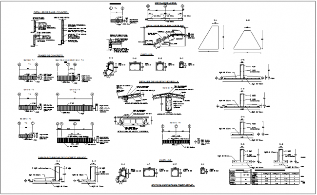 Construction detail of house plan dwg file
