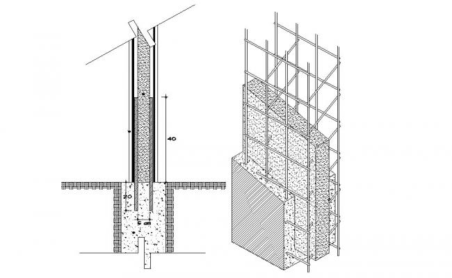 Download Free Panel Wall Construction In DWG File