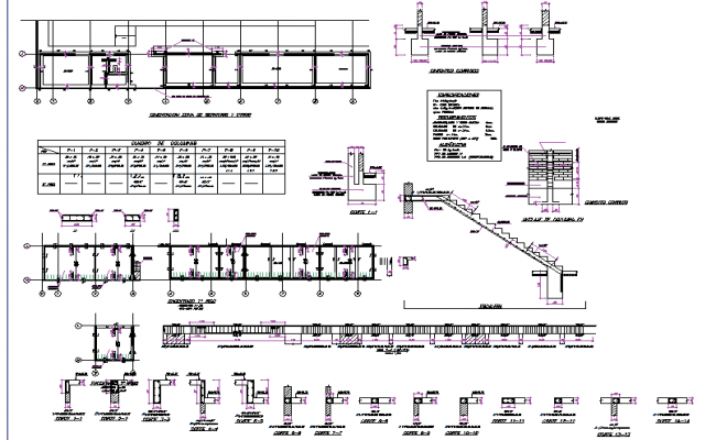 Construction detail plan dwg file