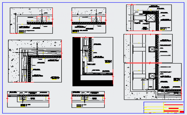 Construction detail section design drawing