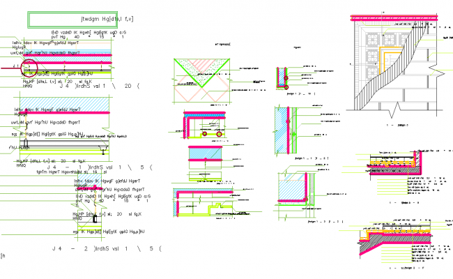 Construction detail view dwg file