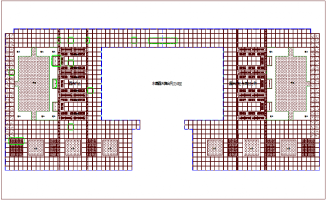 Construction detail with floor plan dwg file