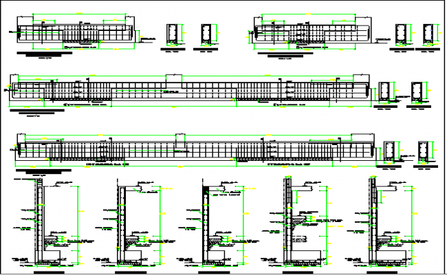 Construction details of Multi-Family Residential Building dwg file