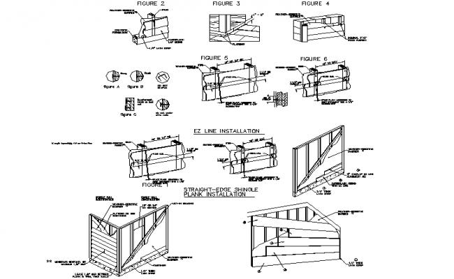 Construction details section detail dwg file