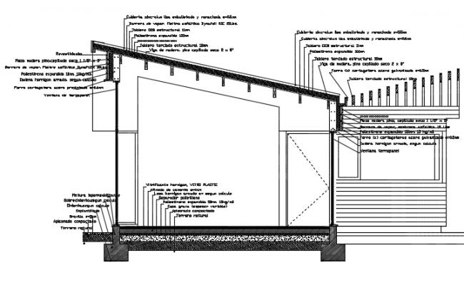 Construction details wood ceiling plan detail dwg file