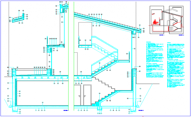 Construction elevation of family housing dwg file