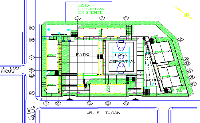 Construction layout plan