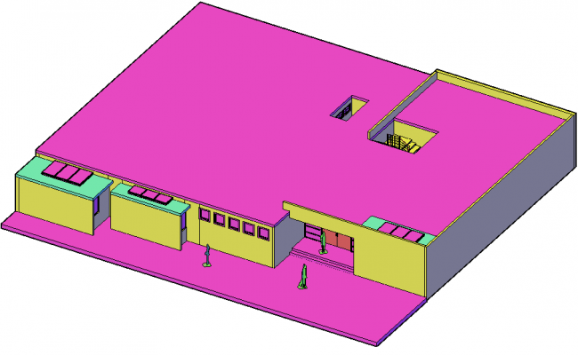 3d Office Drawing In AutoCAD File