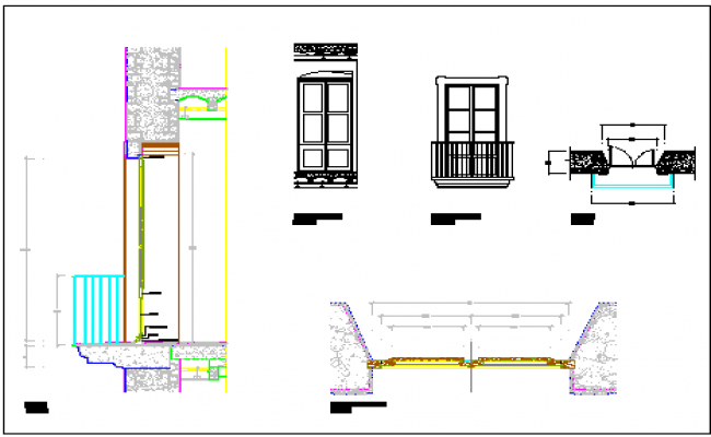 Construction of Balcony DWG file