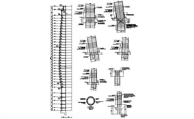 Construction of Column Details CAD Plan