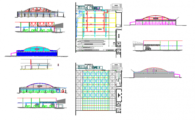 Construction of factory buildings