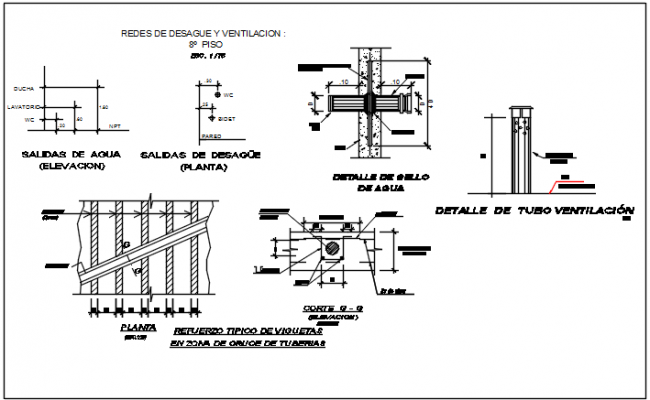 Construction plan detail dwg file