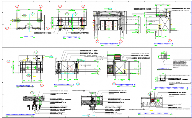 Construction project detail view dwg file