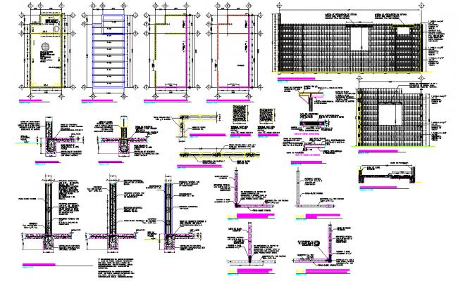 Construction project foam block system plan detail dwg file