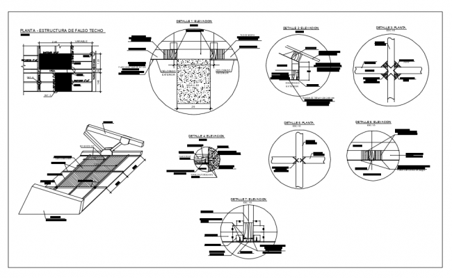 Roof Structure Detail Free AutoCAD Drawings