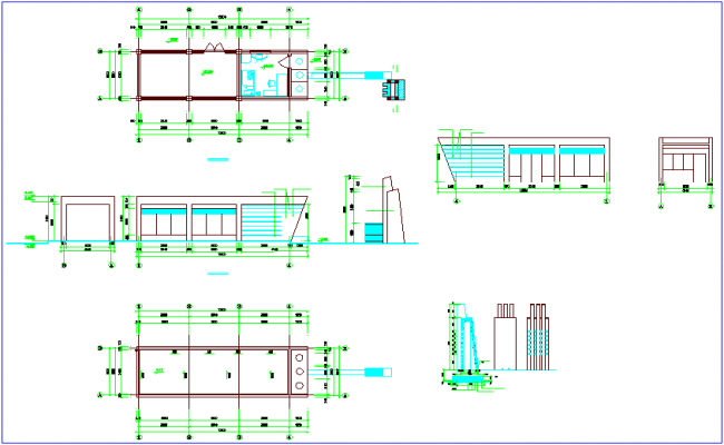 Construction view of floor plan dwg file
