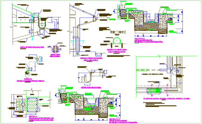 Construction view of pipe view with Chanel dwg file