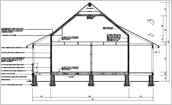 Construction view of truss and support view dwg file