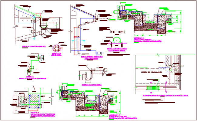 Construction view of typical Chanel detail view dwg file