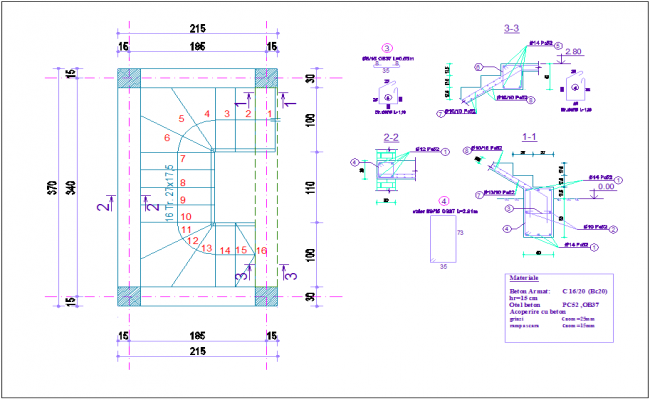 Construction view with wall support and pipe for duplex dwg file