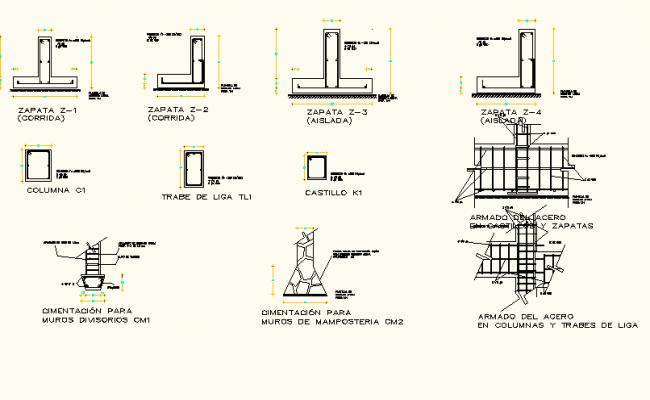 Construction working plan detail dwg file