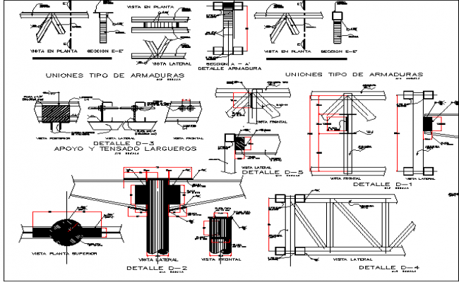 Constructive and gas installation details of gas station dwg file