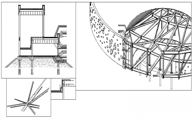 Constructive court design drawing