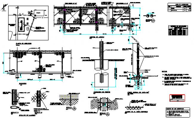 Constructive detail of enclosure design drawing