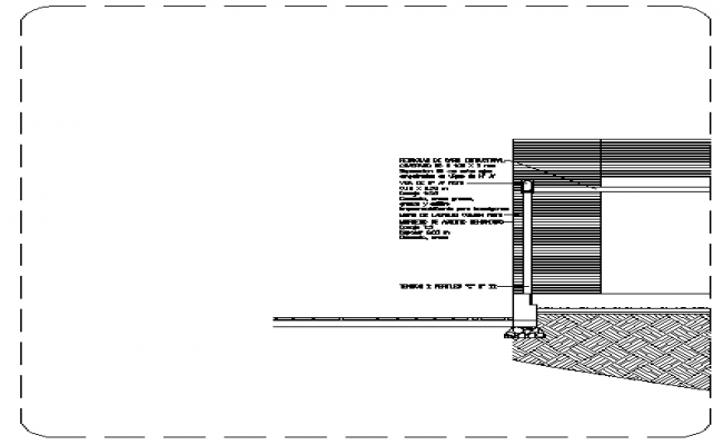 Constructive details of house project dwg file
